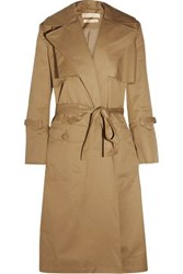 Maggie Marilyn Be Mine Oversized Cotton Twill Trench Coat Camel