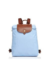 Longchamp Le Pliage Backpack Blue Mist Gold