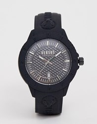 Versus By Versace Tokyo R Spoy24 0018 Silicone Watch Black