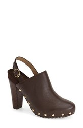 Women's Kenneth Cole Reaction 'Look Away' Studded Slingback Bootie Cocoa Leather