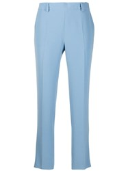 Alberto Biani Mid Rise Tapered Trousers Blue