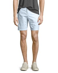 Burberry Tailored Cotton Chino Shorts Pale Opal Blue Light Blue
