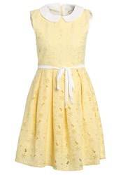 Mintandberry Peter Pan Cocktail Dress Party Dress Pale Banana Light Yellow