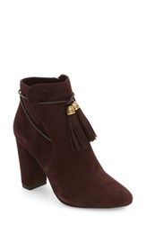 Pelle Moda Women's Fredi Tassel Bootie Chocolate Leather