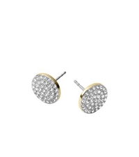Michael Kors Pave Disc Earrings Gold