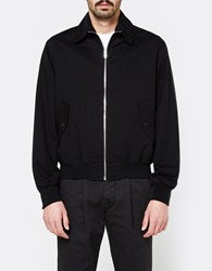 Our Legacy Half Harrington Jacket Black Work Twill