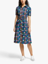 Boden Anastasia Shirt Dress Navy Flags