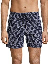 Vilebrequin Seahorse Embroidered Shorts Navy