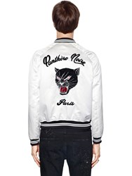 The Kooples Panther Embroidered Bomber Jacket White
