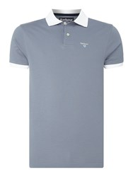 Barbour Men's Contrast Lynton Short Sleeve Polo Light Blue