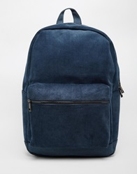 New Look Cord Backpack Navy