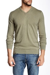 Barbour V Neck Sweater Blue