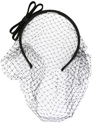 Red Valentino Fishnet Headband Black