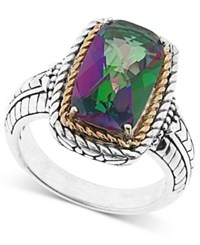 Macy's Mystic Quartz Statement Ring 16 X 12Mm In 14K Yellow Gold Over Sterling Silver Two Tone