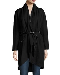 Goldie London Falling Out Wool Blend Oversized Cardigan Black