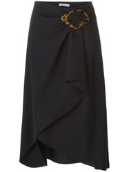 J.W.Anderson J.W. Anderson Midi Wrap Skirt With Buckle Black