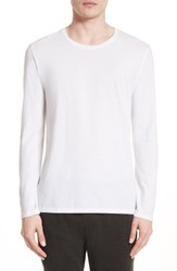 Atm Anthony Thomas Melillo Men's Cotton Crewneck White