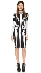 Ktz Tribal Sweater Dress White Black