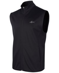 Greg Norman For Tasso Elba Hydrotech Zip Vest Only At Macy's Deep Black
