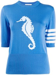 Thom Browne Seahorse Detail Knitted Top 60