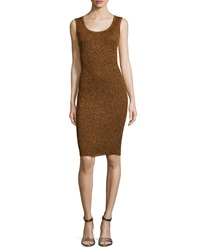 Opening Ceremony Disco Rib Tank Dress Copper