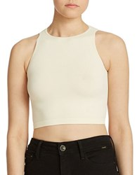 Free People Bella Coachella Crop Seamless Cami Ivory