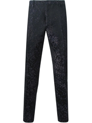Lanvin Jacquard Tailored Trousers Black