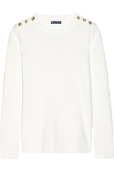 Petit Bateau Marin Cotton Sweater White