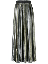 Alice Olivia Tabetha Pleated Skirt Metallic