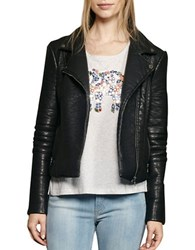 French Connection Faux Leather Moto Jacket Black