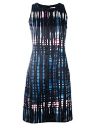 Tomas Maier Abstract Print Dress Black