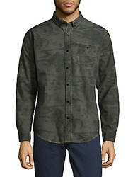 Ezekiel Woven Button Down Shirt Black