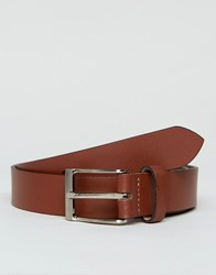 Peter Werth Leather Belt In Tan With Nickle Buckle Black