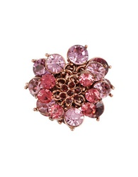 Betsey Johnson Fall Follies Stone Cocktail Ring Pink