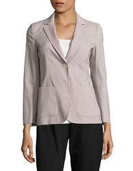 Max Mara Sabbia Striped Blazer Dark Grey