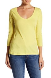 14Th And Union 3 4 Sleeve V Neck Tee Yellow