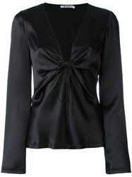 Alexander Wang Plunge Tied Top Black