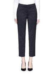 St. John 'Emma' Cropped Straight Pants Black