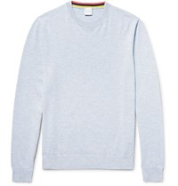 Paul Smith Melange Cashmere Cotton And Wool Blend Sweater Sky Blue