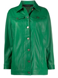 Federica Tosi Buttoned Leather Jacket 60
