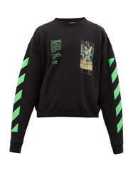 Off White Pascal Painting Cotton Sweatshirt Black