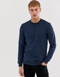 Only And Sons Crew Neck Sweat Jumper Blue