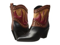 Just Cavalli Nappa With Fires Short Boots Black Brown