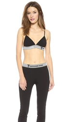 Alexander Wang High Density Luxe Ponte Triangle Bra Black