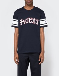 Champion X Beams Crewneck T Shirt Navy