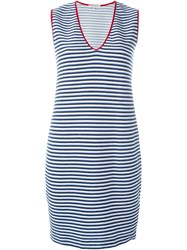Stefano Mortari Striped V Neck Short Dress Multicolour
