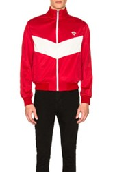 Versace Track Jacket In Red