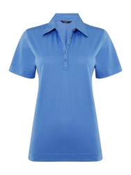 Tigi Short Sleeve Polo Top Blue