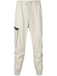 Y 3 Elasticated Waist Trousers Neutrals