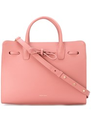 Mansur Gavriel Bow Detail Tote Women Leather One Size Pink Purple